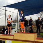 Mathilde Bastoul vice-championne du Tarn cadette de cross 2018 à Florentin