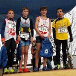 Podium des benjamins aux championnats du Tarn de cross 2018 à Florentin