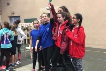 Les benjamines du Castres Athlétisme remportent les interclubs en salle 2018 à Castres