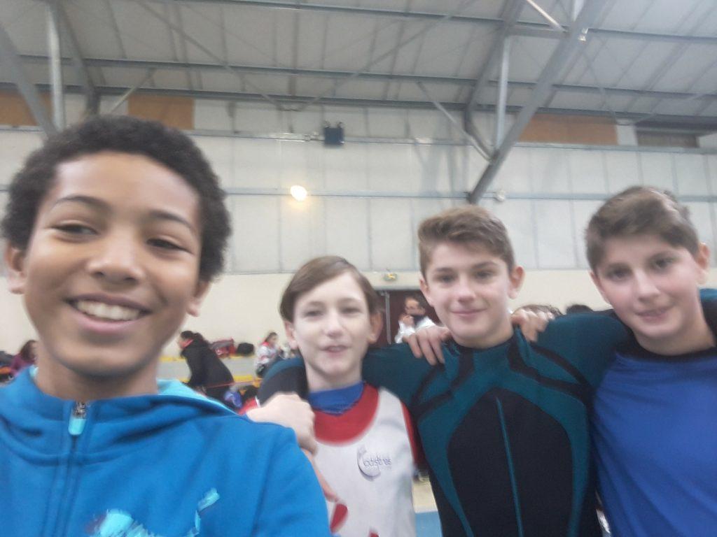 Quelques benjamins du Castres Athlétisme au Grand Prix Hivernal 2018 à Fronton