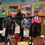 Julie Latger (2ème à droite) sur le podium du 10km de la Corrida de l'Épiphanie 2018 à Lescure-d'Albigeois