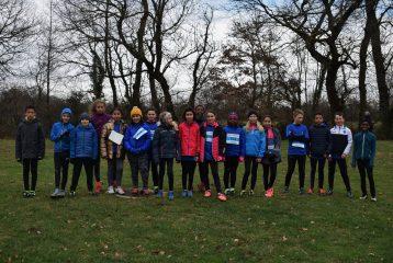 Les poussins du Castres Athlétisme au cross de la 2ème journée du Trophée de l'Avenir 2018 à Labruguière