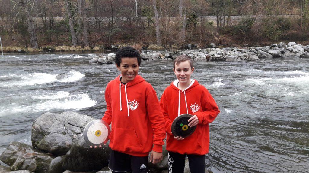Samuel Conjungo et Alexis Solaux aux championnats d'Ariège de Lancers Longs 2018 à Foix