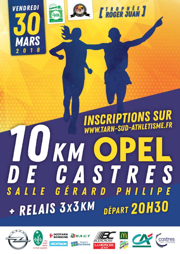 Affiche 10km Opel de Castres 2018
