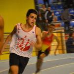 Anthony Velasco sur 200m lors du meeting indoor 2017 de Bompas