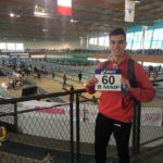 Anthony Velasco aux championnats de France Cadets-Juniors en salle 2018 à Val-de-Reuil