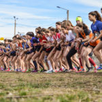 Départ de la course des cadettes aux championnats d'Occitanie de cross 2018 à Alès