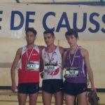 Flavien Szot vainqueur chez les cadets des championnats du secteur Ouest d'Occitanie de cross 2018 à Caussade