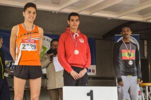Podium cadet avec la victoire de Flavien Szot aux championnats d'Occitanie de cross 2018 à Alès