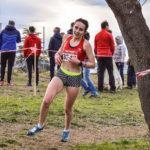 Alexia Vaissette sur la course des As féminins aux championnats d'Occitanie de cross 2018 à Alès