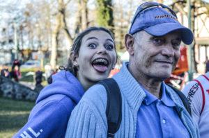 Caroline Laroche et Patrick Deprez au cross Hubert André 2016 à Carmaux