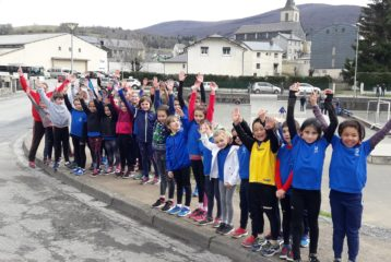 Les Éveils Athlé du Castres Athlétisme à la 4ème journée du Trophée de l'Avenir 2018 à Lacaune