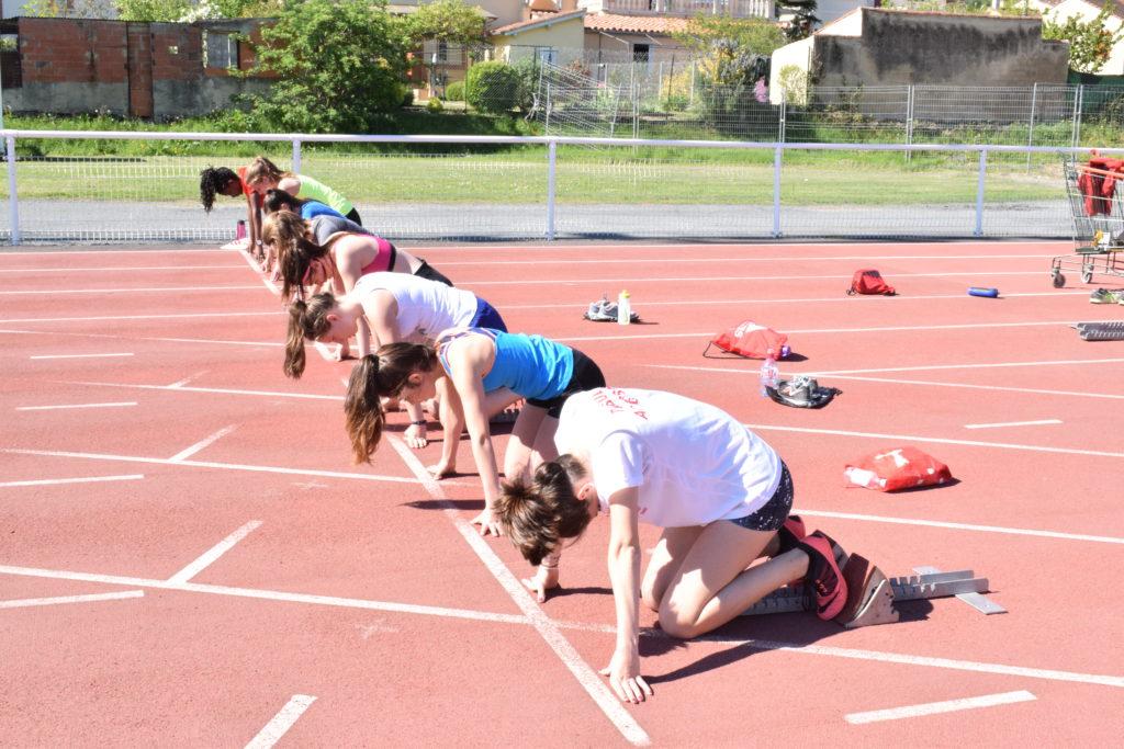 Entrainement sprint du groupe compétition au Castres Athlétisme
