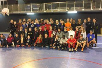 Groupe des athlètes au stage 2018 de la Ligue d'Athlétisme d'Occitanie