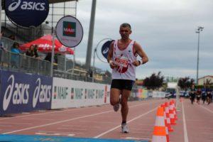 Abdelkader Mamou à l'arrivée du semi-marathon d'Albi 2018