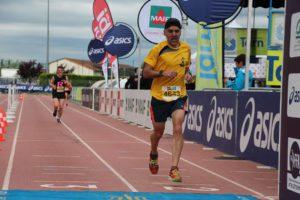 David Velasco à l'arrivée du 10km d'Albi 2018