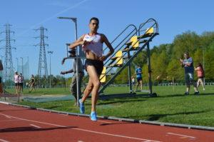 Flavien Szot à l'arrivée du 1500m au meeting du SATUC 2018 à Toulouse