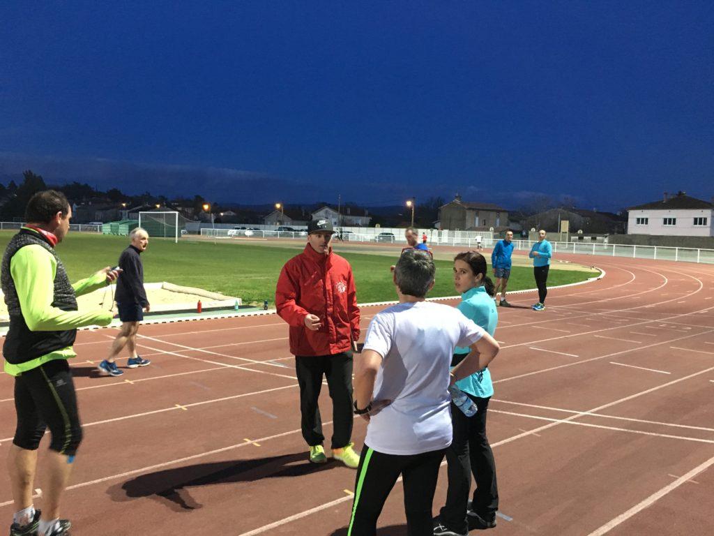 Séance d'entrainement du groupe Running du Castres Athlétisme
