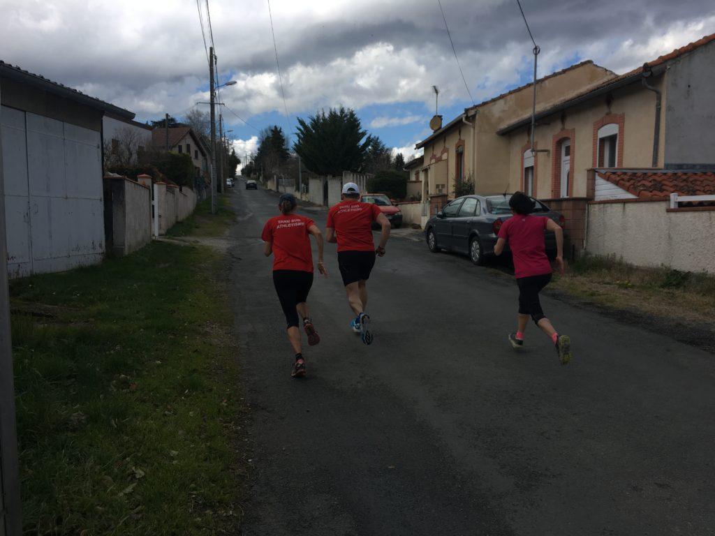 Séance de cotes pour une partie du groupe Running