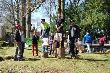 Podium de la Ronde Forestière au BrassacAtrail 2018 à Brassac