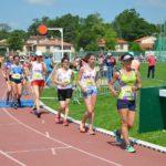 Armelle Tocon et Clara Chamayou au 3000m marche de la finale interclubs 2018 à Castres