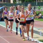 Caroline Laroche et Mathilde Bastoul sur 1500m lors de la finale interclubs 2018 à Castres