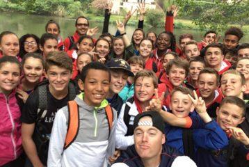 Groupe stage du Castres Athlétisme 2018 à Burlats