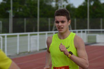 Jean-Baptiste Grand à l'arrivée du 10km de Balma 2018