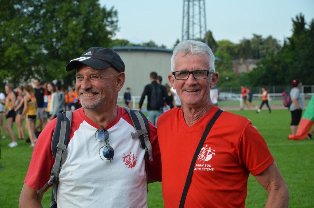Des entraineurs contents et fiers de leurs athlètes lors de la finale interclubs 2018 à Castres