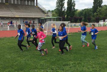 Les poussins Castres Athlétisme à la 4ème journée du challenge départemental 2018 à Carmaux