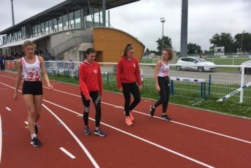 Quatuor du TSA au challenge Équip'Athlé Printanier 2018 à Blagnac