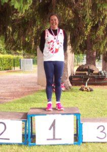 Sandrine Gardes championne d'Occitanie de Pentalancers 2018 à Graulhet