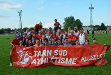 Le Tarn Sud Athlétisme lors de la Finale Interclubs N2 2018 à Castres