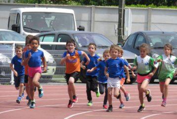 Départ de la course des éveils athlé à la 6ème journée du Trophée de l'Avenir 2018 à Castres