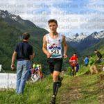Enzo Teysseyre aux championnats de France de course en montagne 2018 à Arrens-Marsous