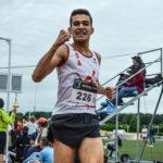 Flavien Szot à l'arrivée 3000m des championnats du secteur ouest d'Occitanie 2018 à Tournefeuille