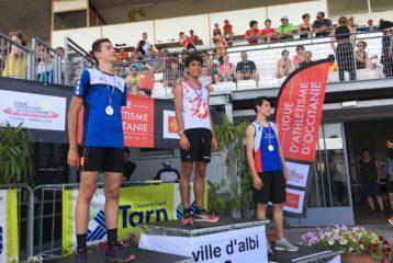 Lucas Marquier triple médaillé des championnats d'Occitanie Benjamins-Minimes 2018 à Albi