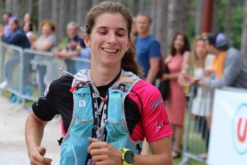 Julie Latger au Desperado Trail 2018 à Saint-Ferréol
