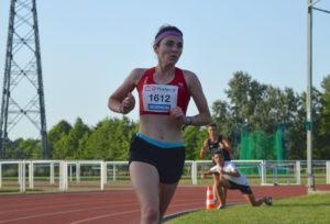 Alexia Vaissette sur 5000m aux championnats d'Occitanie 2018 à Toulouse