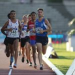Flavien Szot sur 3000m aux championnats de France Cadets-Juniors sur piste 2018 à Bondoufle