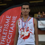 Flavien Szot champion d'Occitanie du 1500m cadet 2018 à Toulouse