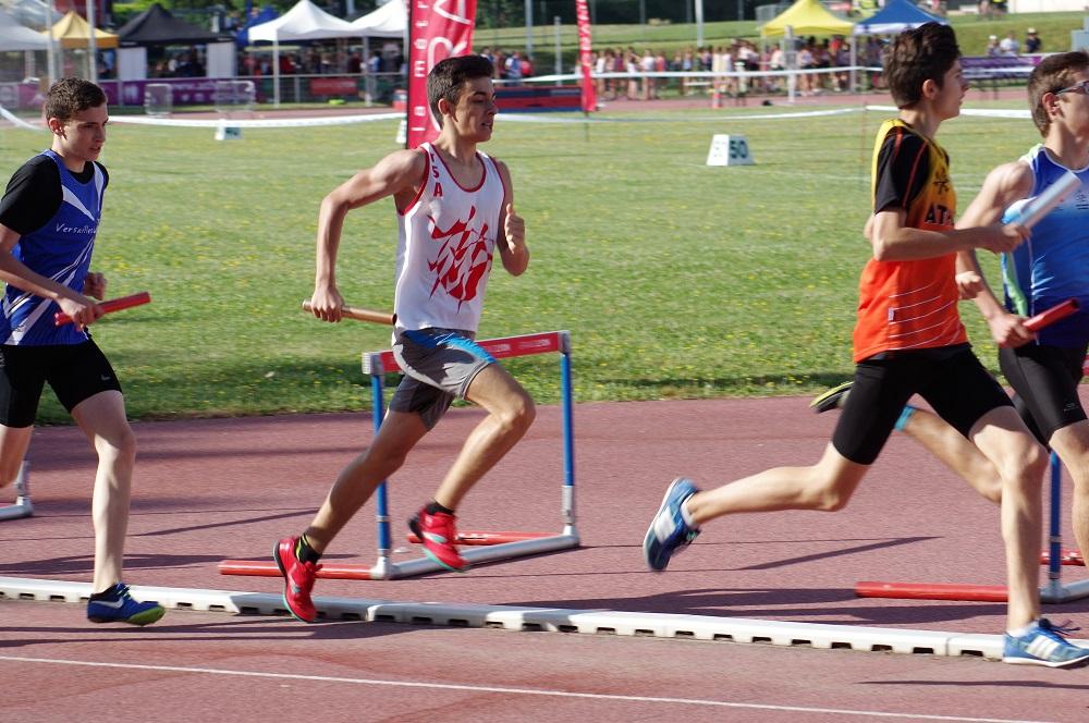 Pierre Alba au relais 8228 lors de la finale nationale des Pointes d'Or 2018 à Vénissieux