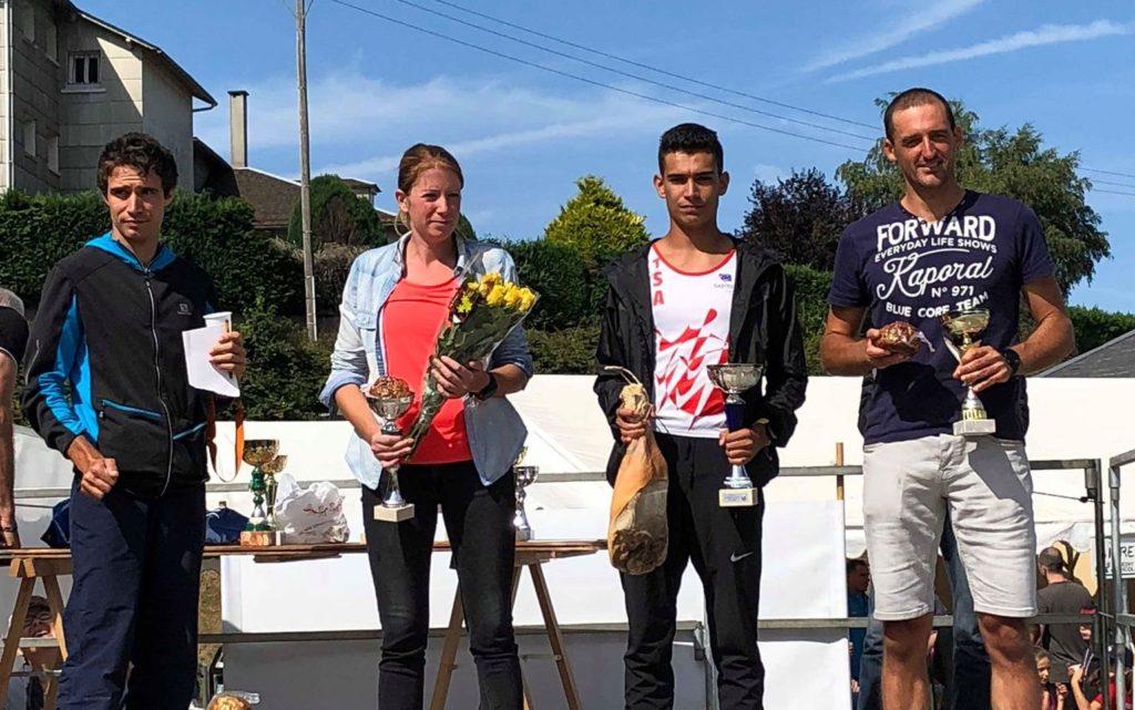 Flavien Szot sur le podium du Charcu'trail 2018 à Lacaune