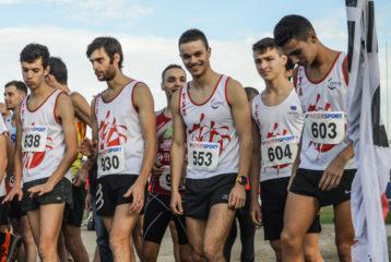 Départ de la course des As et juniors masculins au cross Jean Vidal 2018 àDépart de la course des As et juniors féminins au cross Jean Vidal 2018 à Lescure-d'Albigeois