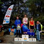 Jean-Baptiste Grand sur le podium des espoirs au cross de la Cité 2018 à Carcassonne