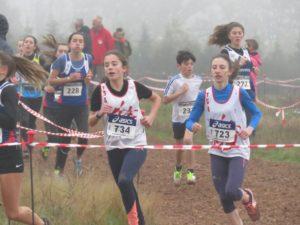 Nos minimes féminins aux championnats du Tarn de cross 2019 à Florentin
