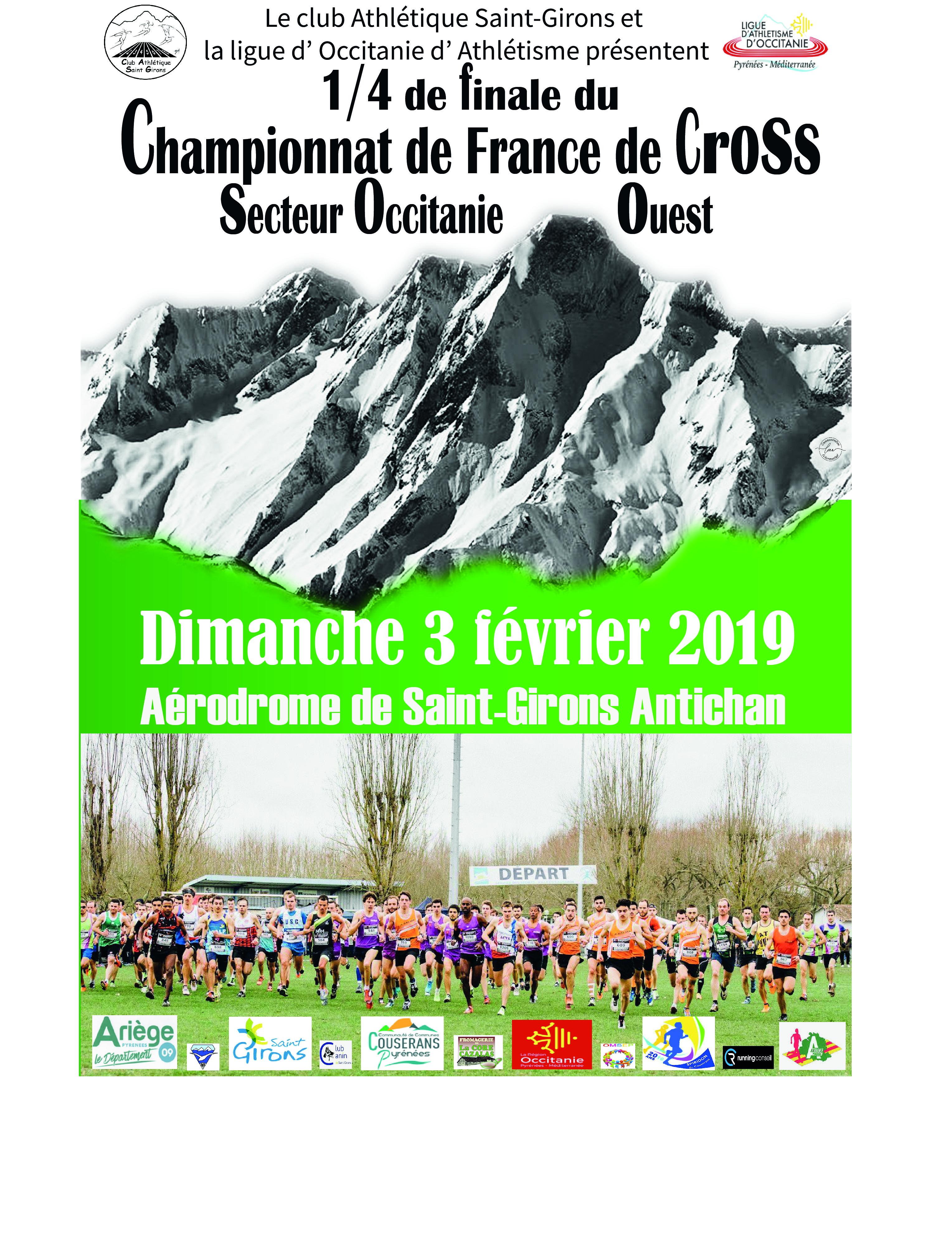 Quart de finale des championnats de France de cross 2019 (secteur Ouest d'Occitanie)