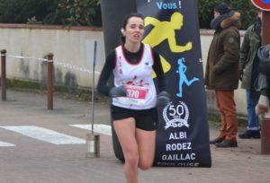 Alexia Vaissette à la Corrida de l'Epiphanie 2019 à Lescure-d'Albigeois