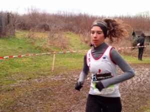 Elodie Sanchez au quart de finale des championnats de France de cross 2019 à Saint-Girons