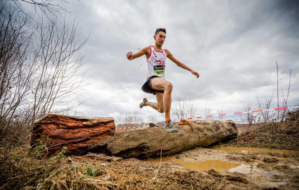 Flavien Szot au quart de finale des championnats de France de cross 2019 à Saint-Girons